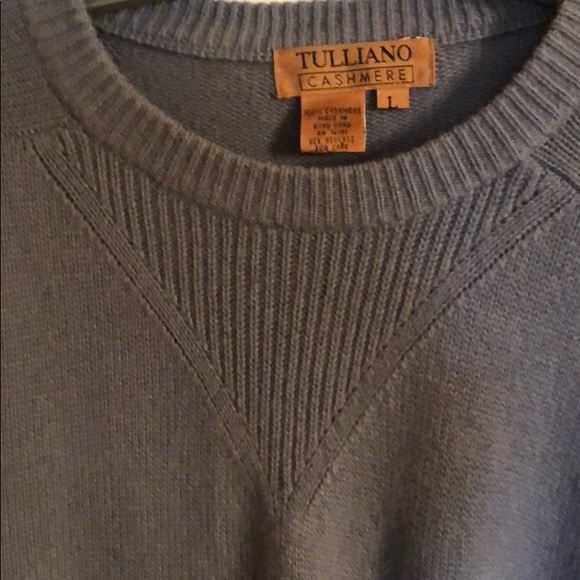 Other - TULLIANO  MEN CASHMERE LARGE VTG GRAY SWEATER